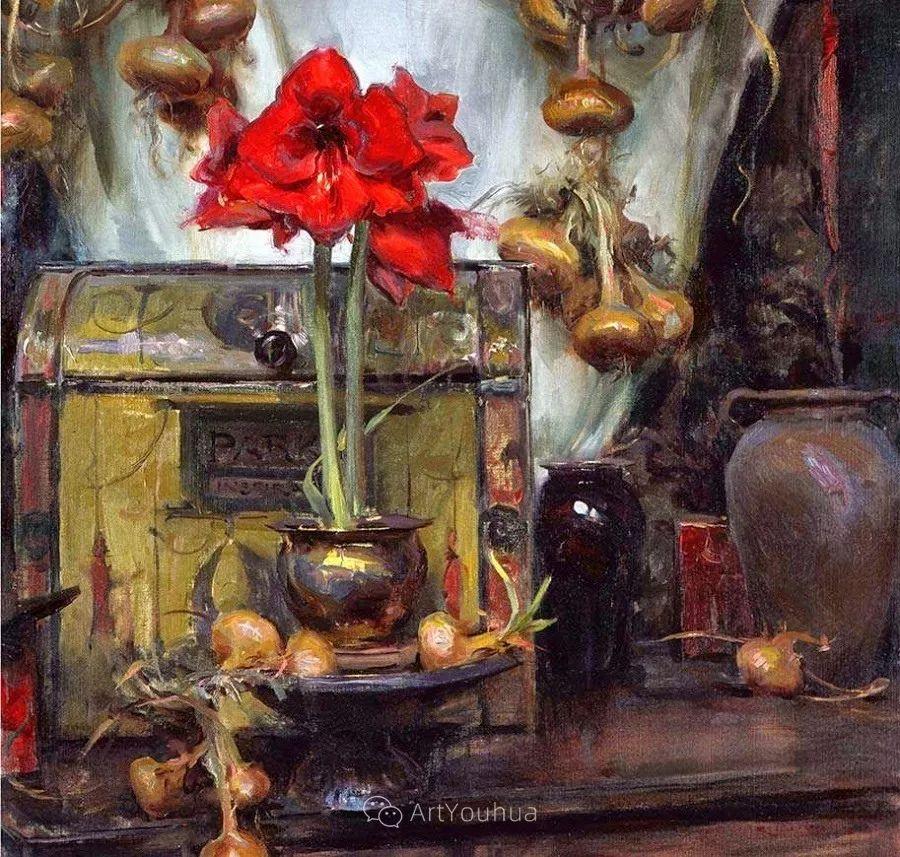 很温暖的静物花卉,美国画家Daniel F.Gerhartz插图7