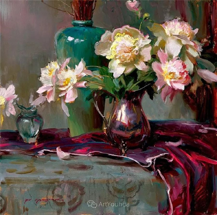 很温暖的静物花卉,美国画家Daniel F.Gerhartz插图9