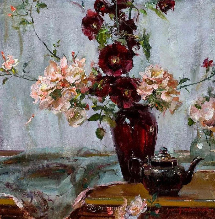 很温暖的静物花卉,美国画家Daniel F.Gerhartz插图11