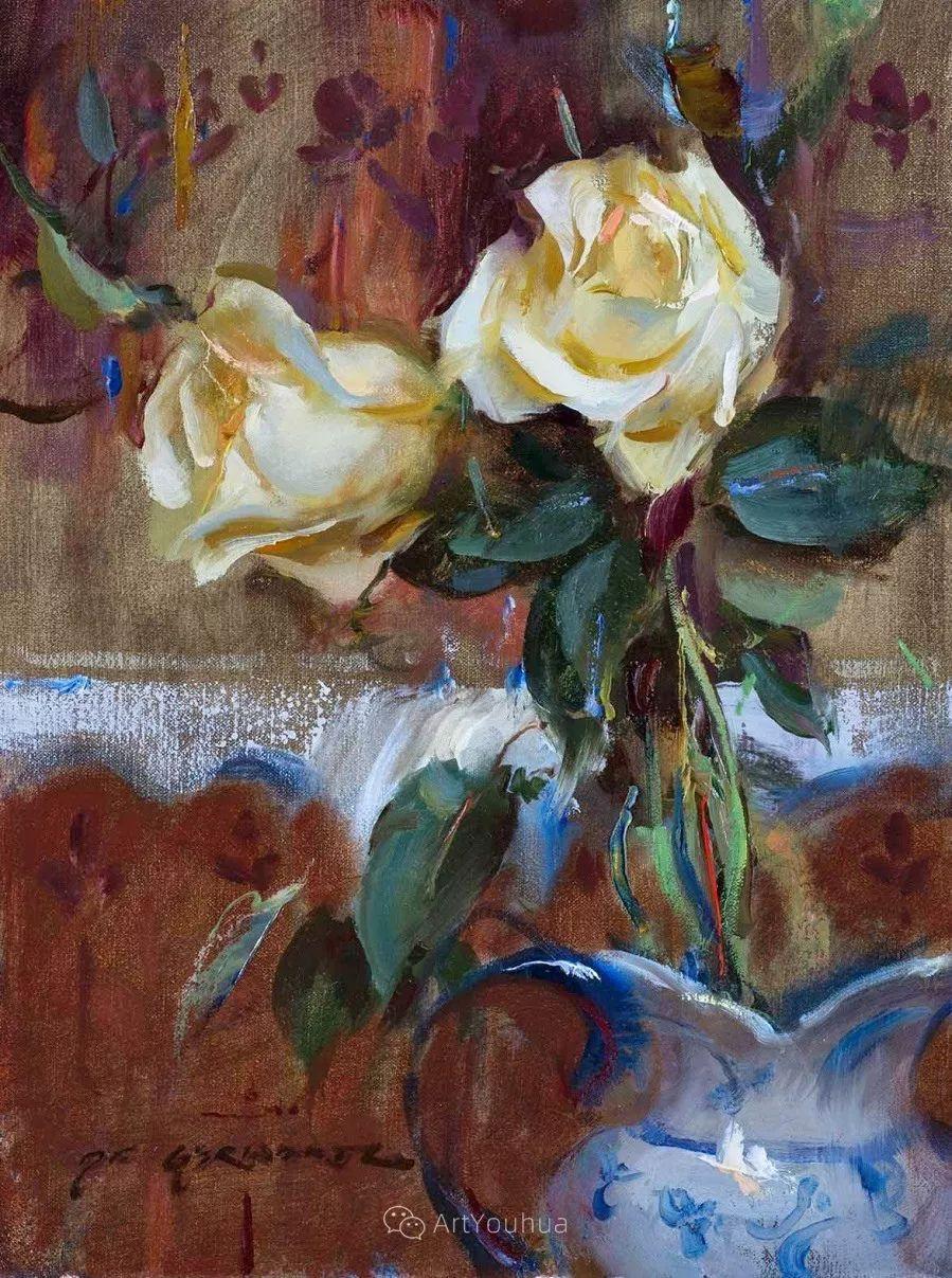 很温暖的静物花卉,美国画家Daniel F.Gerhartz插图12