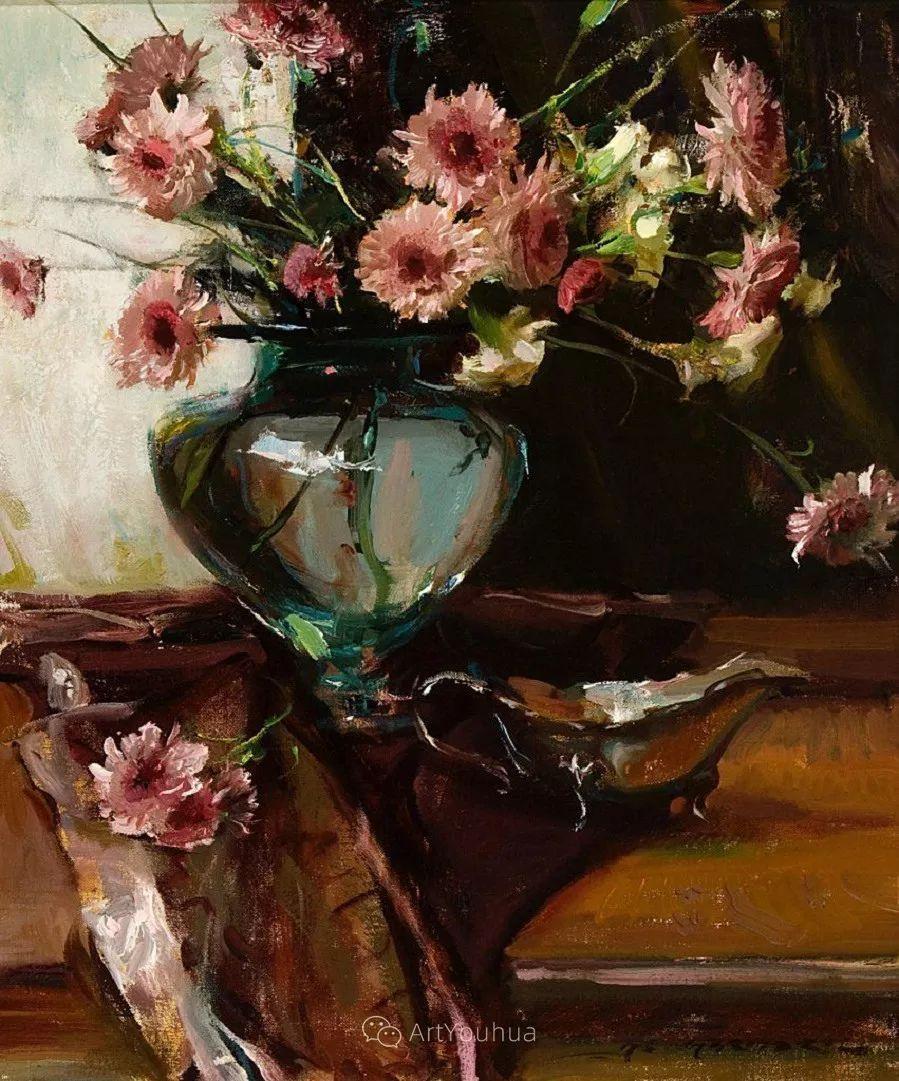 很温暖的静物花卉,美国画家Daniel F.Gerhartz插图13