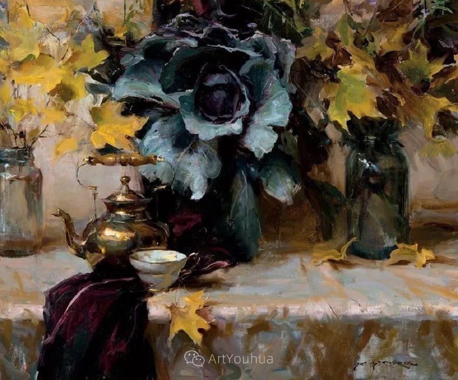 很温暖的静物花卉,美国画家Daniel F.Gerhartz插图14