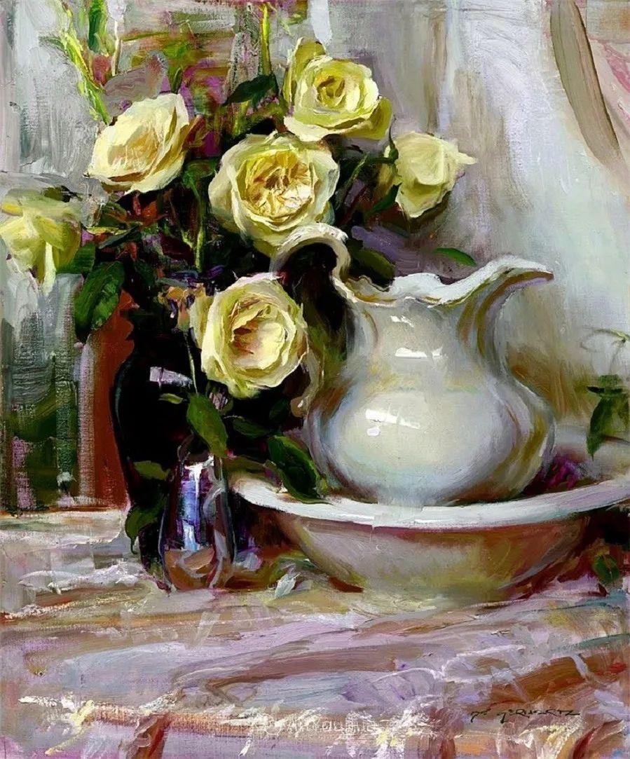 很温暖的静物花卉,美国画家Daniel F.Gerhartz插图15