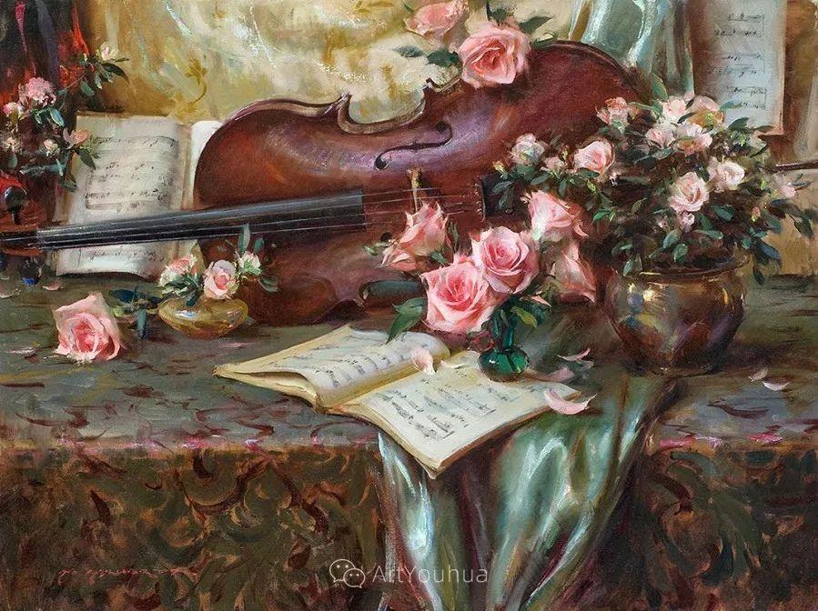 很温暖的静物花卉,美国画家Daniel F.Gerhartz插图16