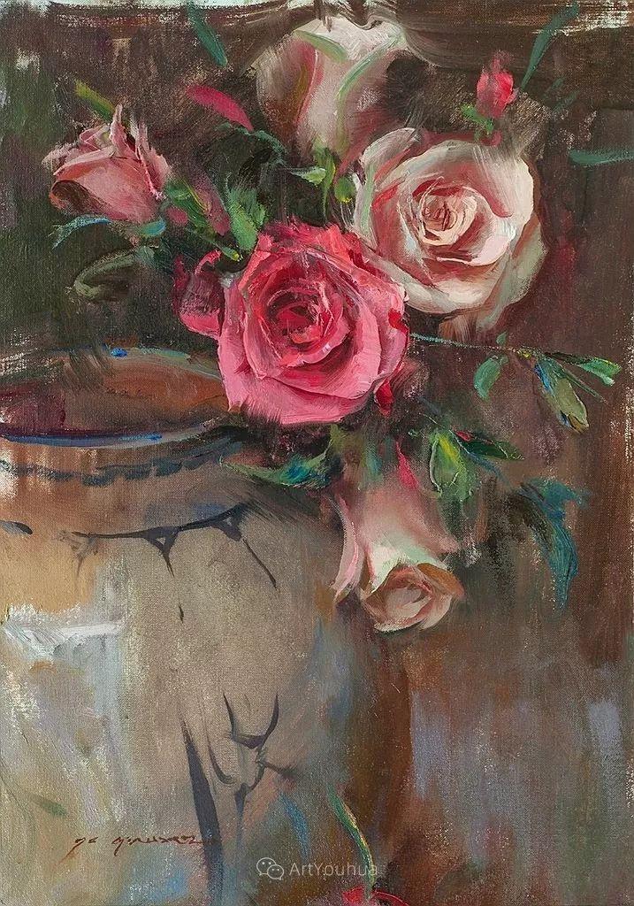 很温暖的静物花卉,美国画家Daniel F.Gerhartz插图17