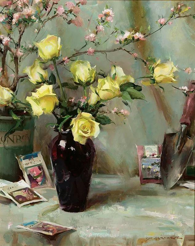 很温暖的静物花卉,美国画家Daniel F.Gerhartz插图18