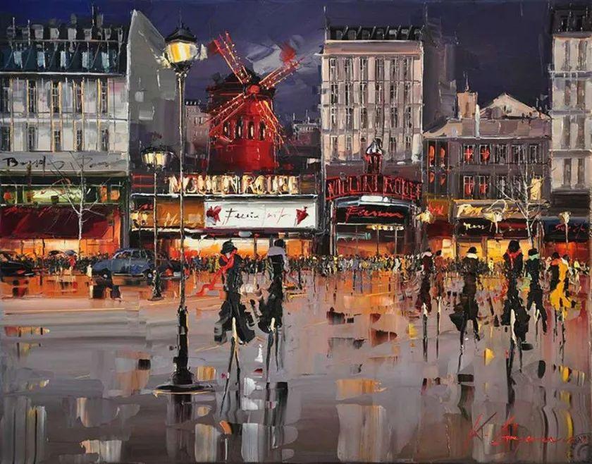 城市街景,利比亚画家Karl Gadzhum插图1