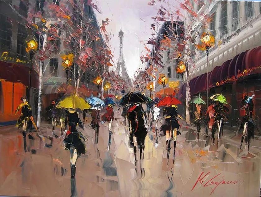 城市街景,利比亚画家Karl Gadzhum插图3