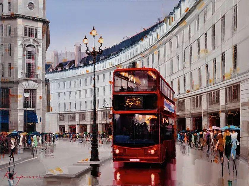 城市街景,利比亚画家Karl Gadzhum插图5