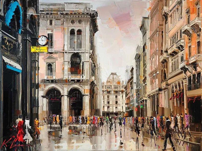 城市街景,利比亚画家Karl Gadzhum插图6