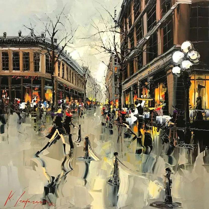 城市街景,利比亚画家Karl Gadzhum插图7