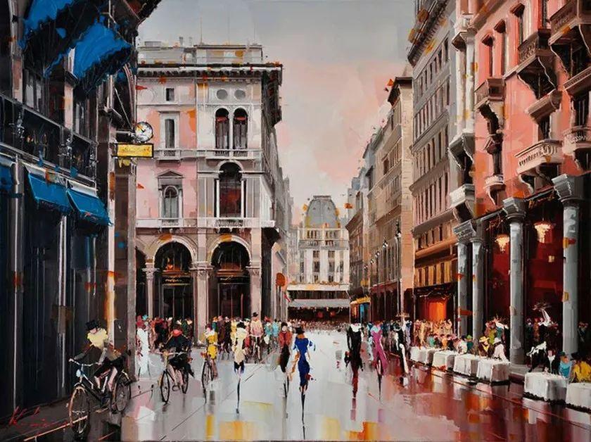 城市街景,利比亚画家Karl Gadzhum插图11