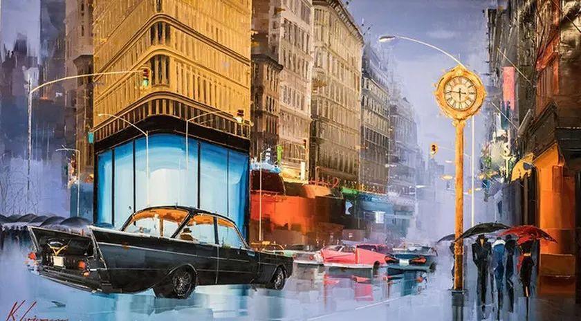 城市街景,利比亚画家Karl Gadzhum插图12