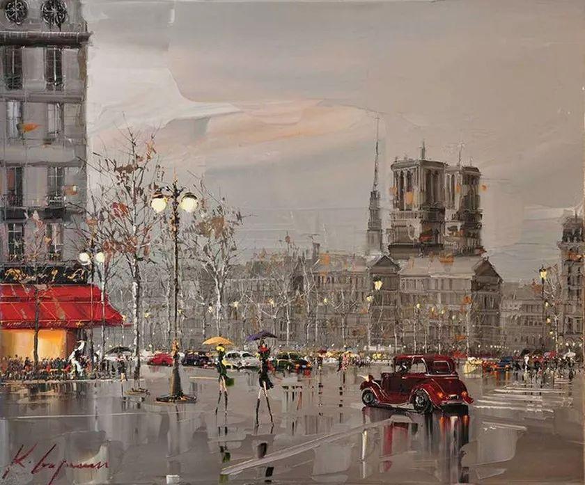 城市街景,利比亚画家Karl Gadzhum插图14