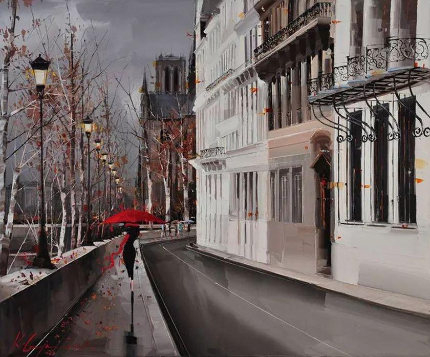 城市街景,利比亚画家Karl Gadzhum插图15