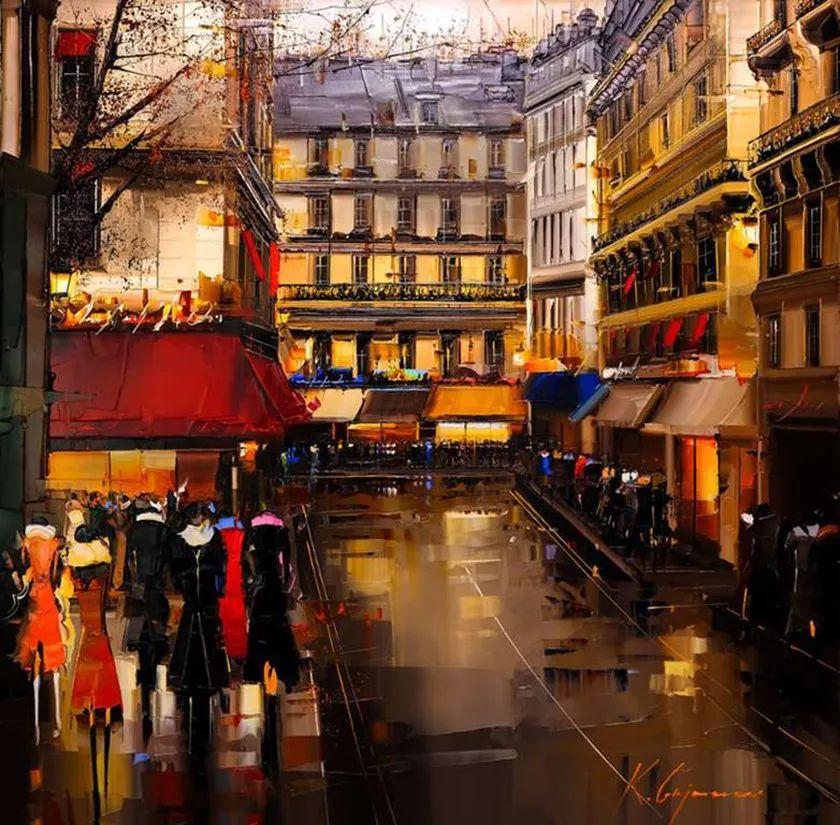 城市街景,利比亚画家Karl Gadzhum插图16