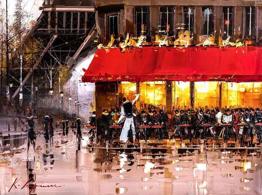 城市街景,利比亚画家Karl Gadzhum插图17