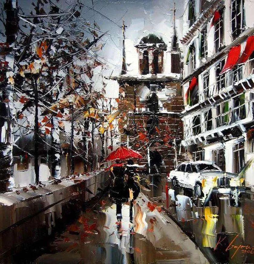 城市街景,利比亚画家Karl Gadzhum插图20