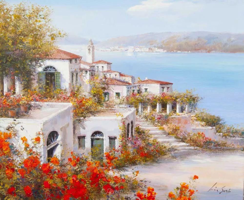 温暖如花,浪漫一刹!意大利浪漫印象主义女画家Lucia Sarto插图1