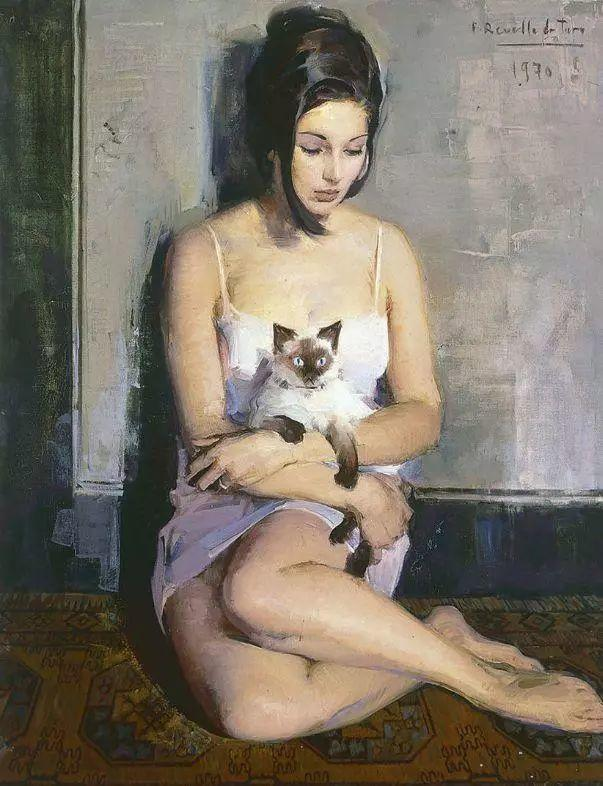 一生只爱画美人,西班牙肖像画家Felix Revello de Toro插图
