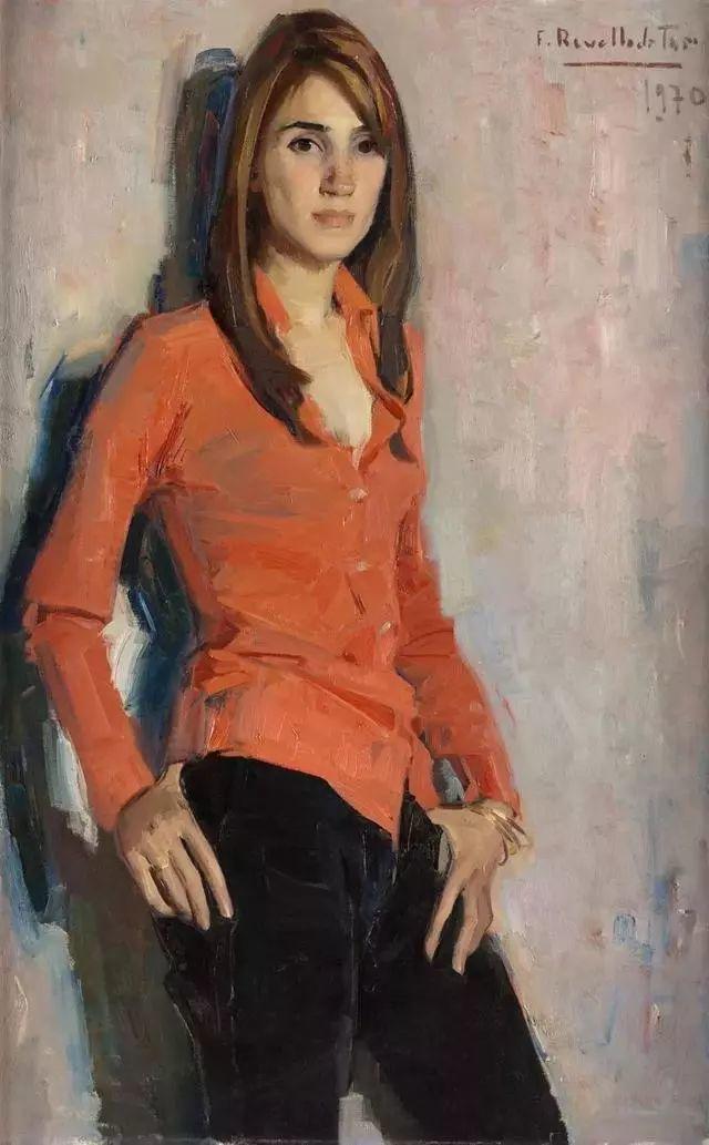 一生只爱画美人,西班牙肖像画家Felix Revello de Toro插图15