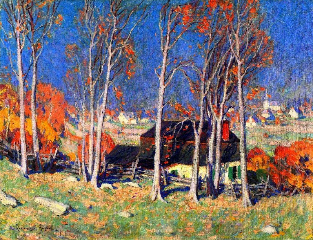 他笔下的冬季景观,很不一样,美!法裔加拿大画家Clarence Alphonse Gagnon插图3