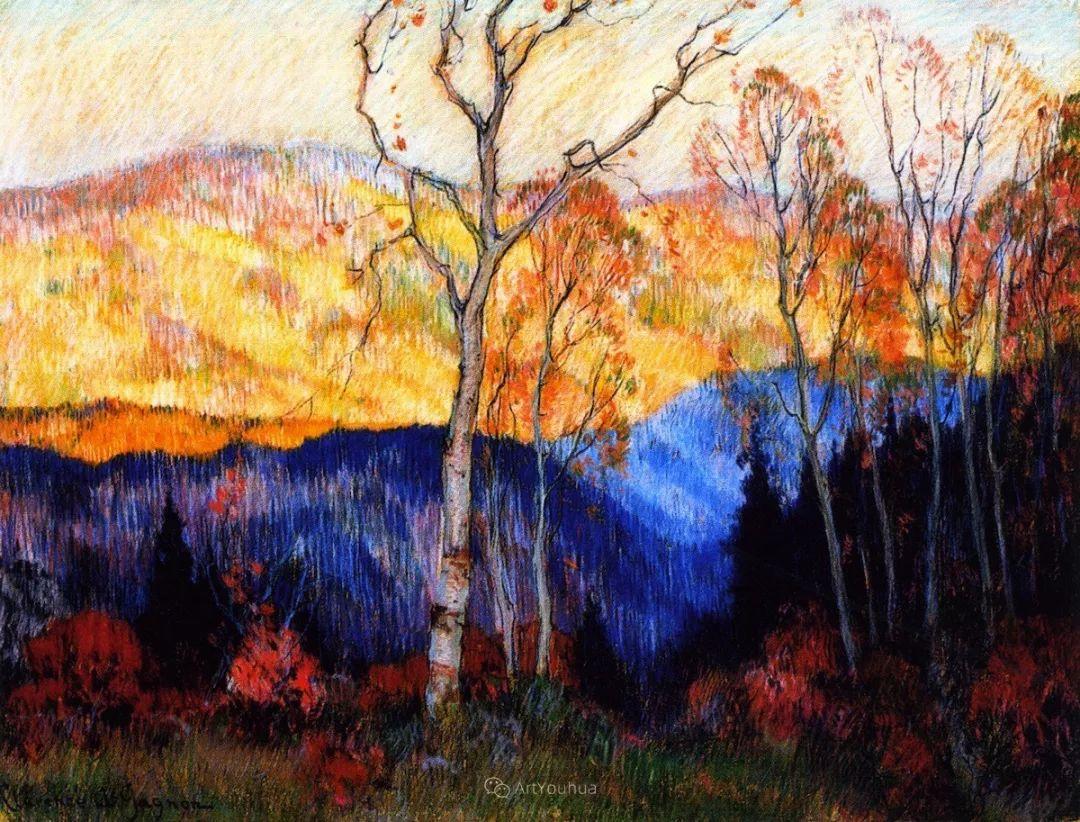 他笔下的冬季景观,很不一样,美!法裔加拿大画家Clarence Alphonse Gagnon插图7