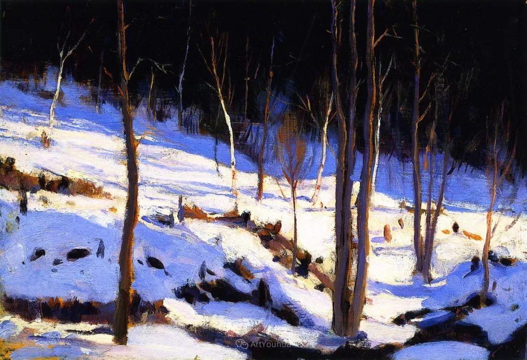 他笔下的冬季景观,很不一样,美!法裔加拿大画家Clarence Alphonse Gagnon插图13