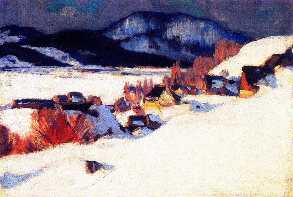 他笔下的冬季景观,很不一样,美!法裔加拿大画家Clarence Alphonse Gagnon插图15