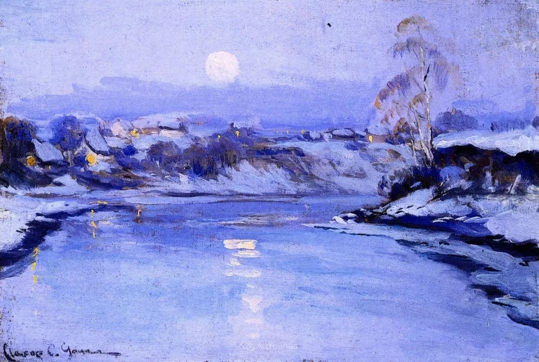 他笔下的冬季景观,很不一样,美!法裔加拿大画家Clarence Alphonse Gagnon插图19