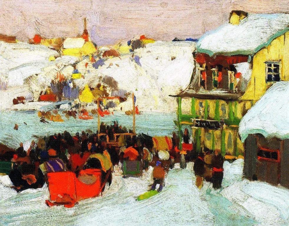 他笔下的冬季景观,很不一样,美!法裔加拿大画家Clarence Alphonse Gagnon插图21