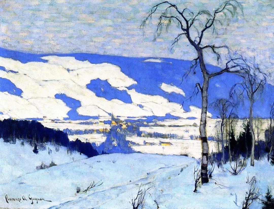 他笔下的冬季景观,很不一样,美!法裔加拿大画家Clarence Alphonse Gagnon插图27