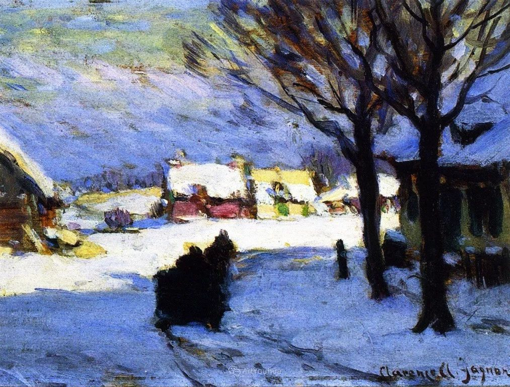 他笔下的冬季景观,很不一样,美!法裔加拿大画家Clarence Alphonse Gagnon插图31
