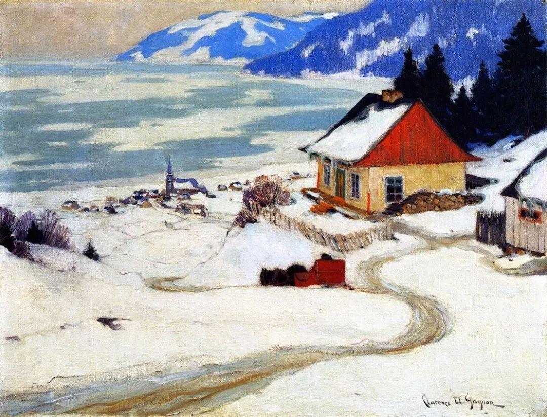 他笔下的冬季景观,很不一样,美!法裔加拿大画家Clarence Alphonse Gagnon插图33