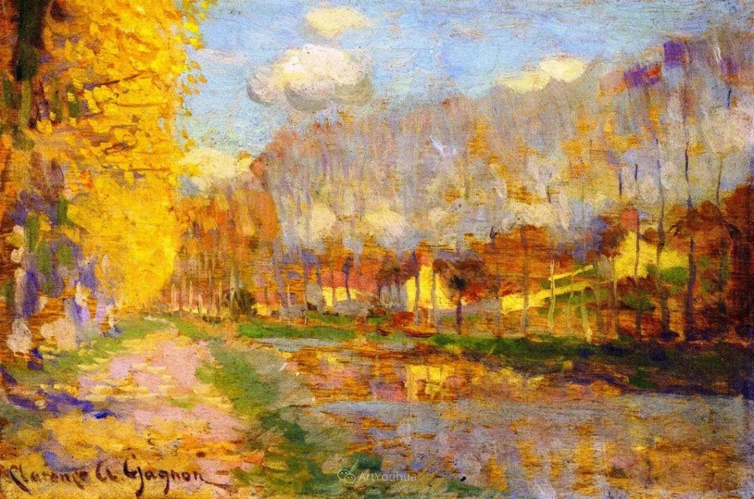 他笔下的冬季景观,很不一样,美!法裔加拿大画家Clarence Alphonse Gagnon插图43