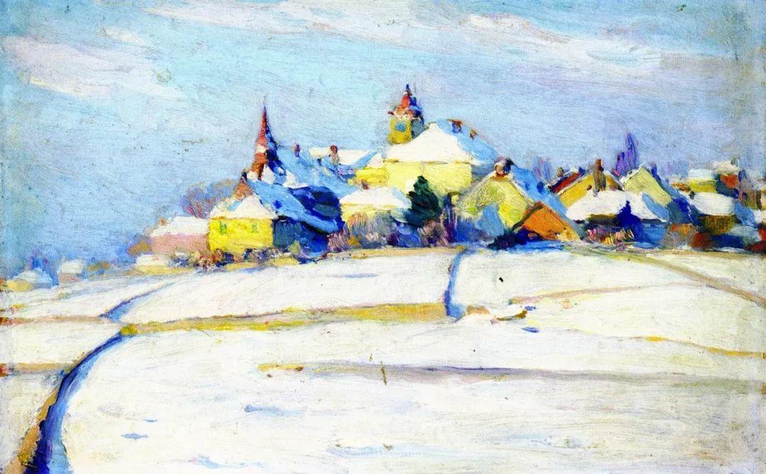 他笔下的冬季景观,很不一样,美!法裔加拿大画家Clarence Alphonse Gagnon插图57
