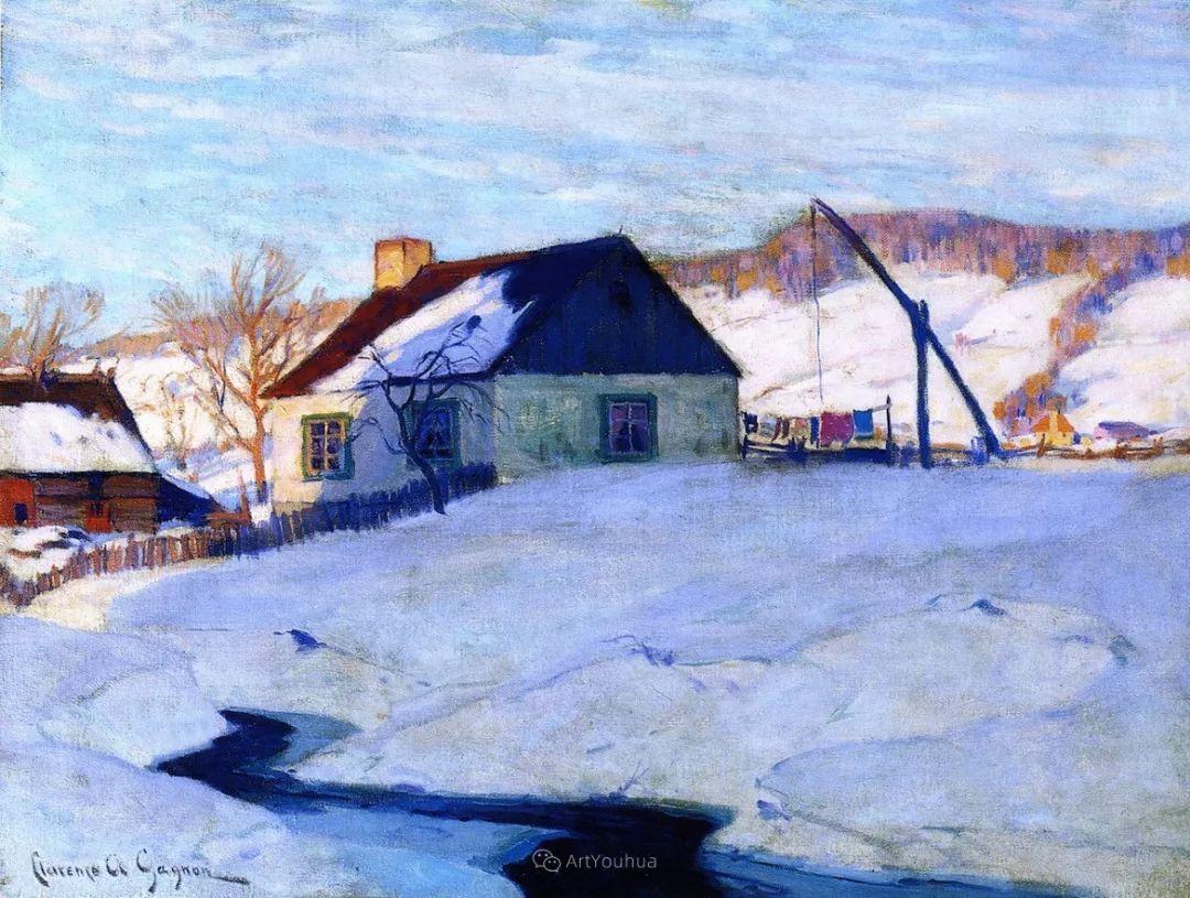 他笔下的冬季景观,很不一样,美!法裔加拿大画家Clarence Alphonse Gagnon插图59