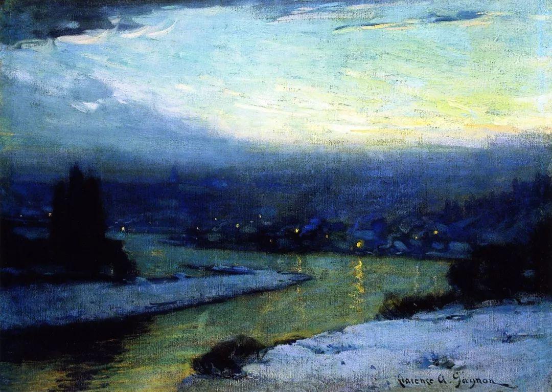 他笔下的冬季景观,很不一样,美!法裔加拿大画家Clarence Alphonse Gagnon插图61