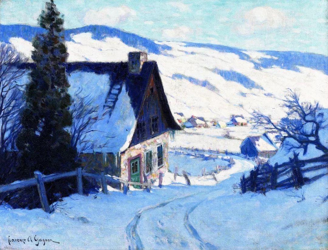他笔下的冬季景观,很不一样,美!法裔加拿大画家Clarence Alphonse Gagnon插图63