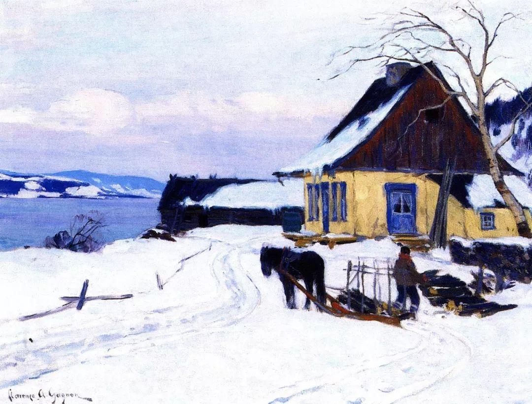 他笔下的冬季景观,很不一样,美!法裔加拿大画家Clarence Alphonse Gagnon插图65