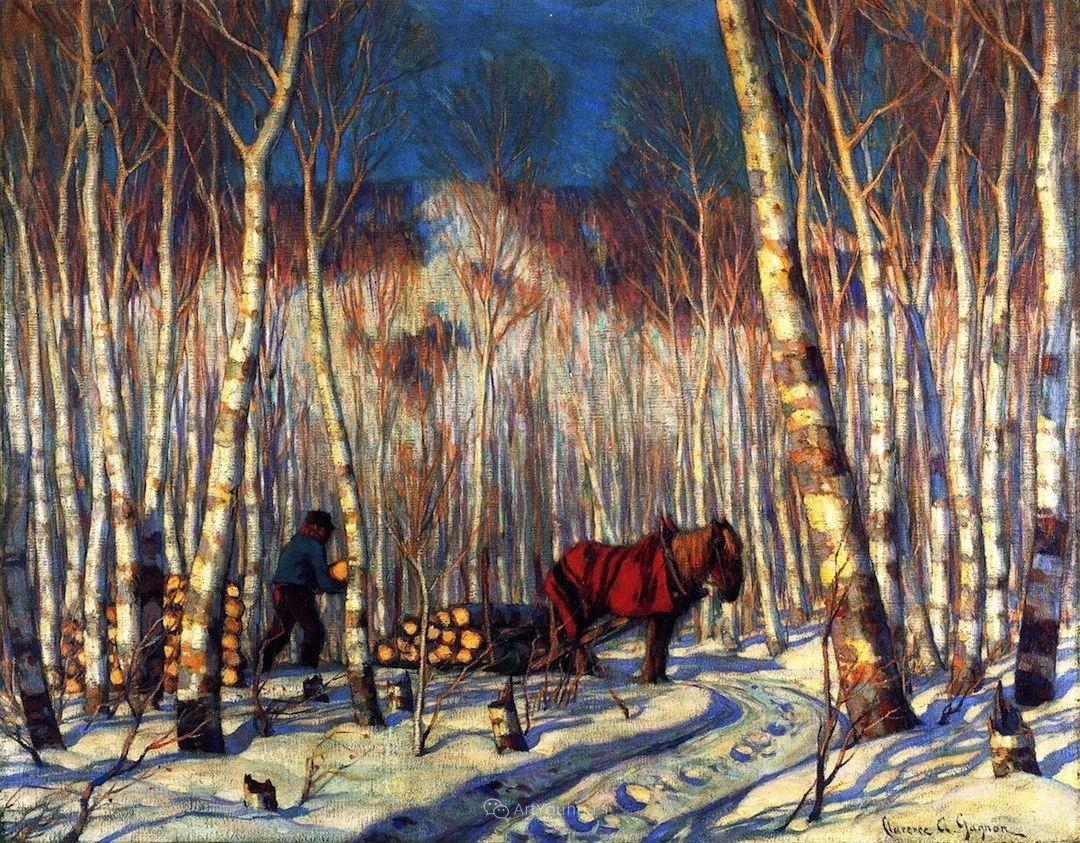 他笔下的冬季景观,很不一样,美!法裔加拿大画家Clarence Alphonse Gagnon插图71