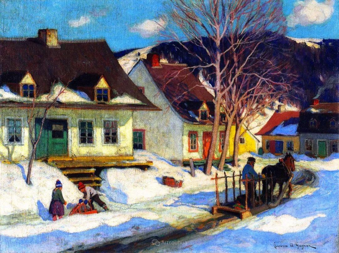他笔下的冬季景观,很不一样,美!法裔加拿大画家Clarence Alphonse Gagnon插图73