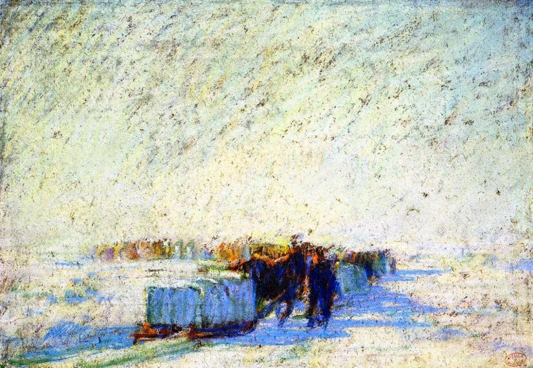 他笔下的冬季景观,很不一样,美!法裔加拿大画家Clarence Alphonse Gagnon插图75