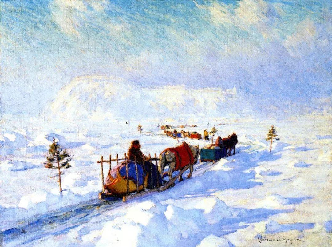 他笔下的冬季景观,很不一样,美!法裔加拿大画家Clarence Alphonse Gagnon插图77