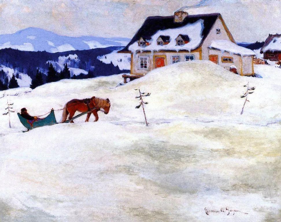 他笔下的冬季景观,很不一样,美!法裔加拿大画家Clarence Alphonse Gagnon插图81