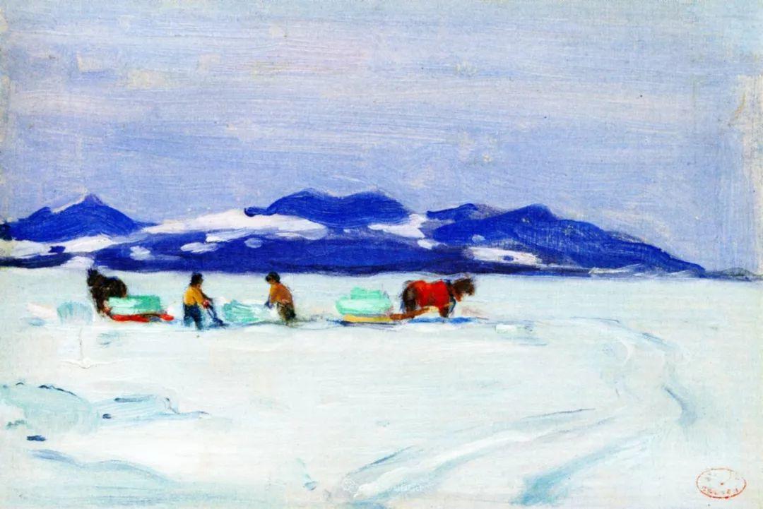 他笔下的冬季景观,很不一样,美!法裔加拿大画家Clarence Alphonse Gagnon插图83