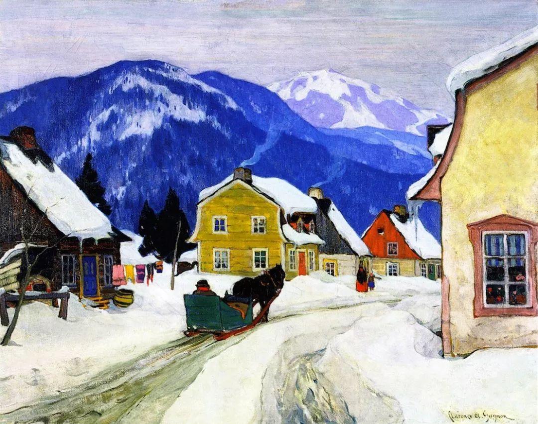 他笔下的冬季景观,很不一样,美!法裔加拿大画家Clarence Alphonse Gagnon插图85