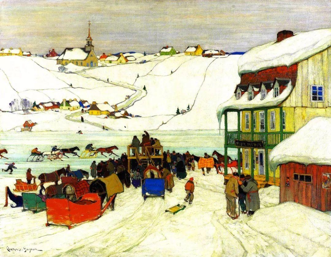 他笔下的冬季景观,很不一样,美!法裔加拿大画家Clarence Alphonse Gagnon插图87