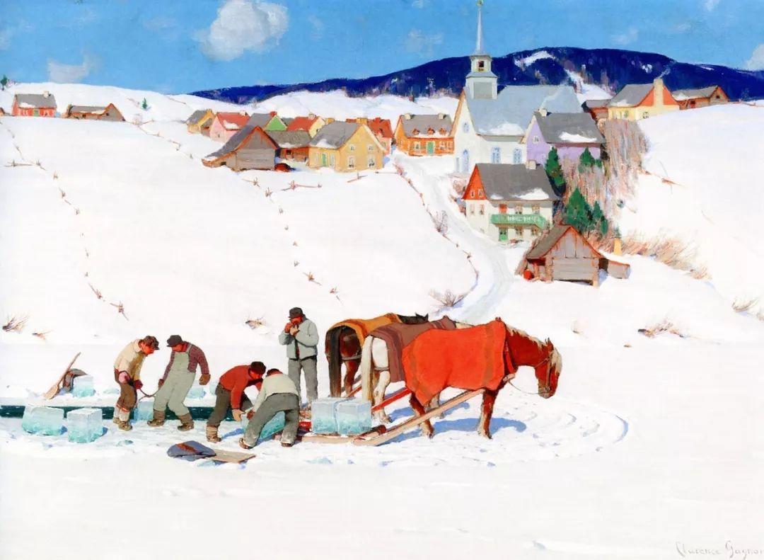 他笔下的冬季景观,很不一样,美!法裔加拿大画家Clarence Alphonse Gagnon插图89