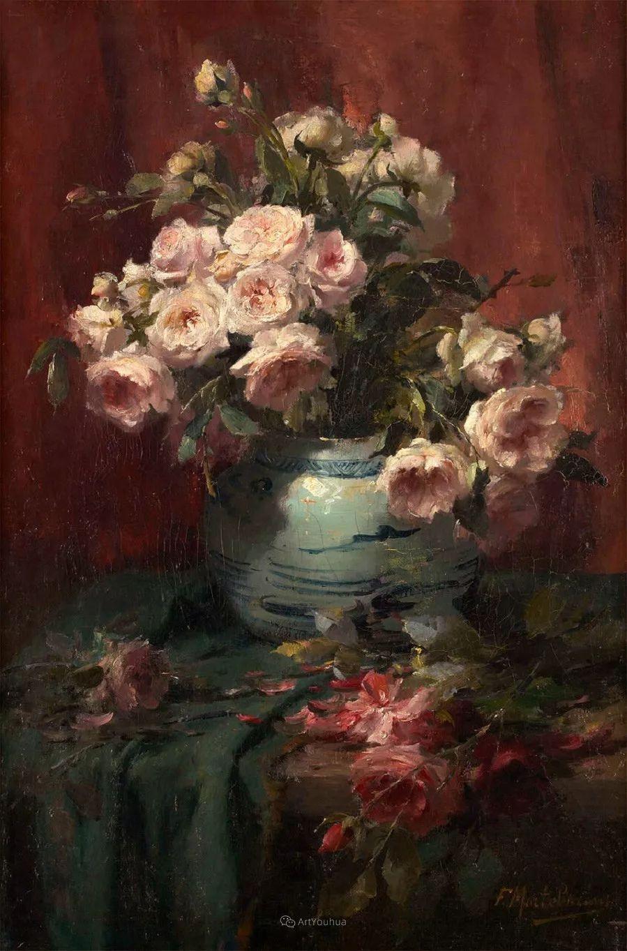 美丽的玫瑰花,印象派和现实主义之间——比利时Frans Mortelmans插图15